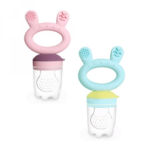 Introduce baby's first solids with the silicone fresh food feeder