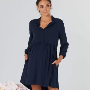 Baby doll maternity dress sienna navy