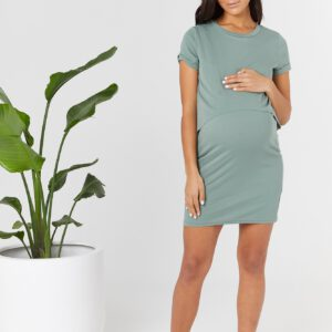 Vaucluse Pregnancy and nursing Dress Light Army