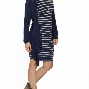 Waterfall cardigan for pregnancy navy