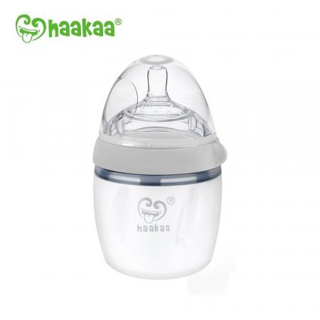 Haakaa Baby Bottle Grey 160ml Gen 3