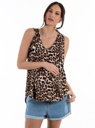 Maternity Swing Tank with Nursing Opening - Leopard2