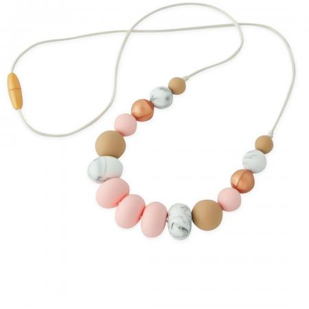 Mum Silicone Necklace for Nursing in Pink