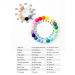 Silicone beads colour chart