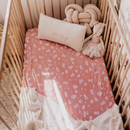 Snuggle Hunny Fitted Cot Sheet Daisy